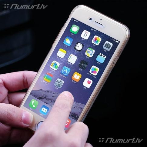 Silikona caurspīdīgs divpusējās maciņš iPhone