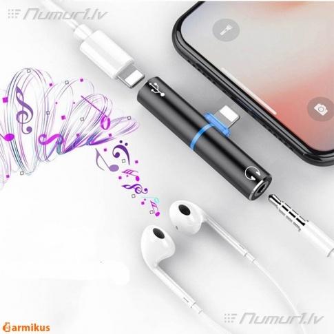 iPhone: vienlaicīgi uzlādēšana un austiņas 3.5 mm