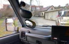 Periskopiskie spoguļi RHD auto pielāgošanai