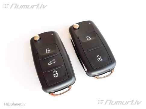 Jaunie Volkswagen aizdedzes atslēgas korpusi